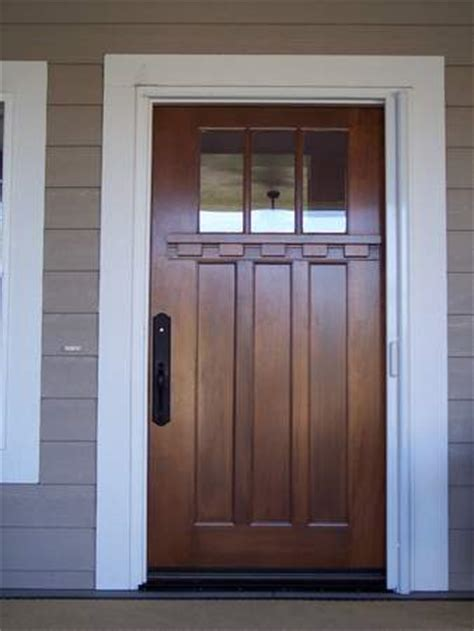 wooden front door modern front door handsome american walnut wood entry
