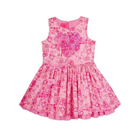 lelli pink printed dress with
