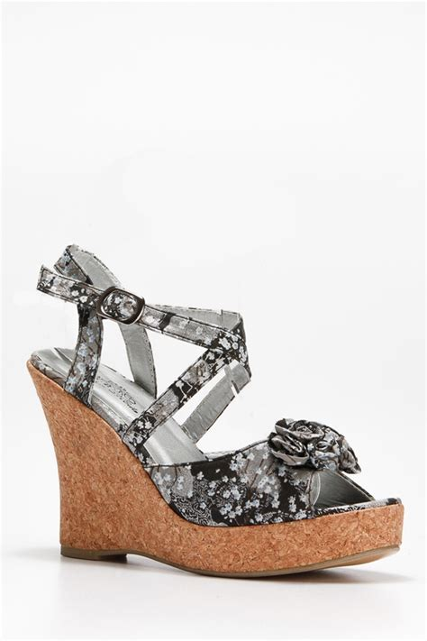floral cork wedge cicihot wedges shoes store wedge shoes