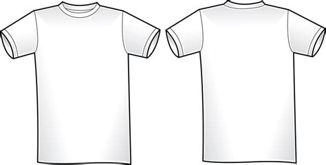 vector t shirt template 2 vector download