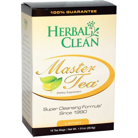 Herbal Detox Cleanse by Herbal Clean Master Tea Cleansing Formula Lemon