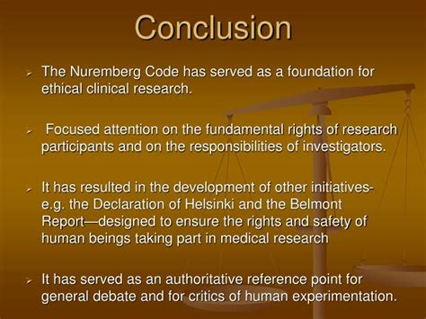 fundamental laws of the world for ensuring eternal books ppt nuremberg code powerpoint presentation id 4510306