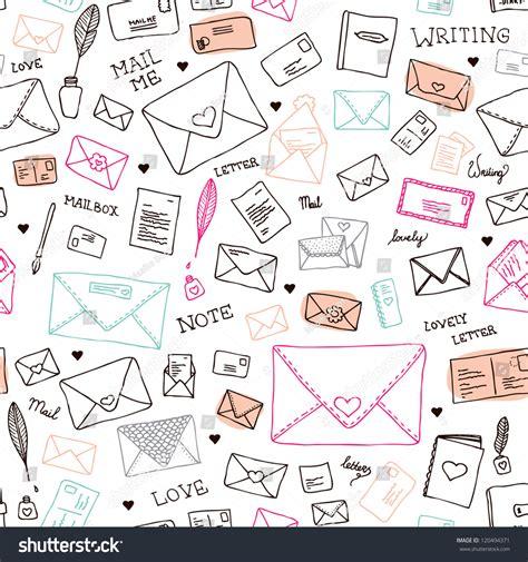 pattern html email seamless vintage mail letters envelope illustration stock