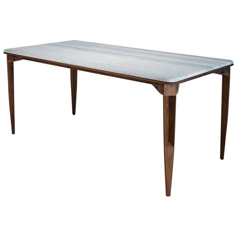 contemporary brindle dining table walnut wood honed