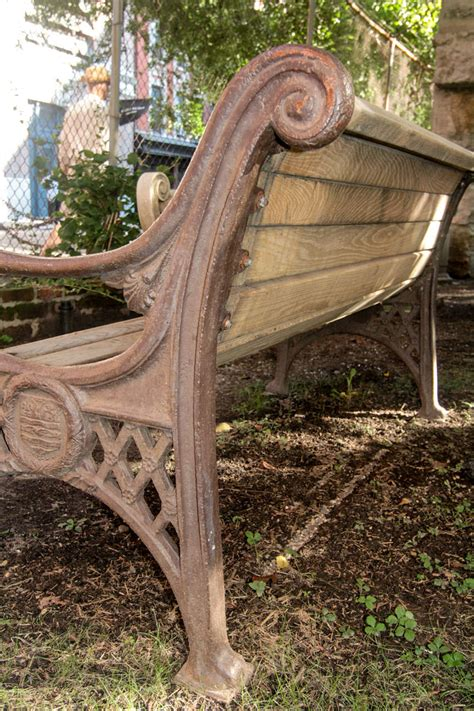 cast iron bench for sale cast iron bench with lion head arms for sale at 1stdibs