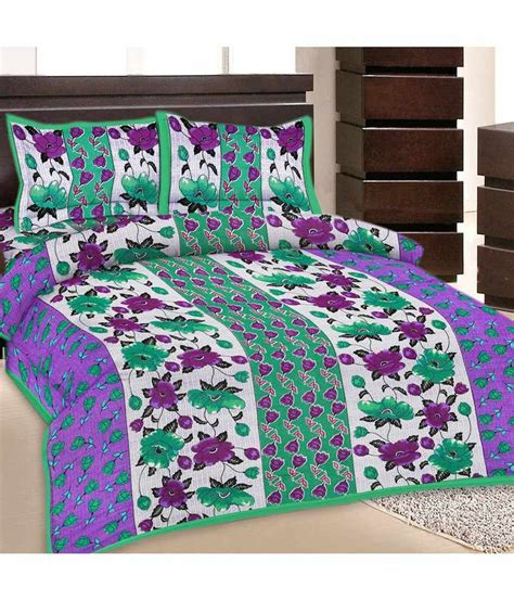 indian bed sheets grj india double bed sheet with 2 pillow cover buy grj