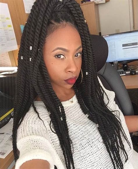 kinky on long face 19 fabulous kinky twists hairstyles stayglam