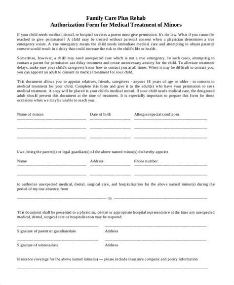Free Printable Child Medical Consent Form Carisoprodolpharm Com Authorization Form For Grandparents Template
