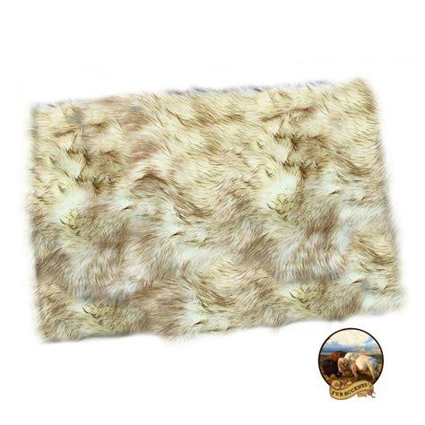 Fur Rugs Ebay by Shag Rug Plush Brown Tip Arctic Fox Fur Rectangle