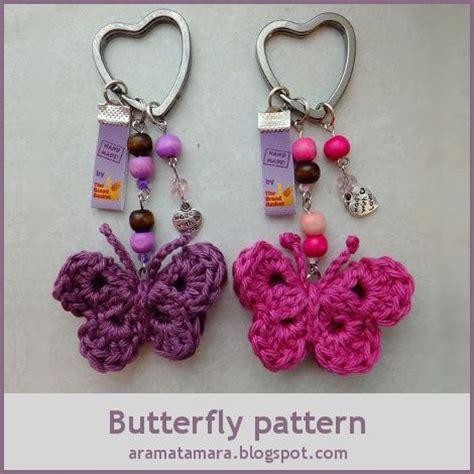 cute key pattern tamigurumi butterfly pattern cute key ring