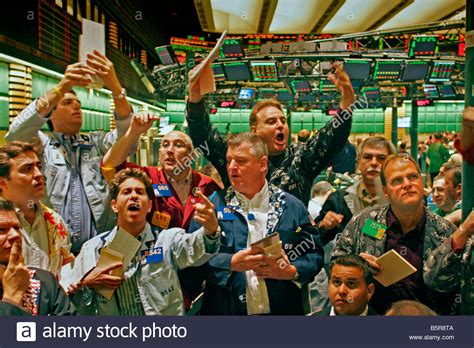 Floor Trader Cocoa by New York Board Of Trade Trading Floor Stock Photo Royalty