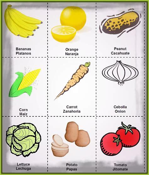 imagenes vegetales en ingles imagenes de frutas con nombres en ingles para colorear