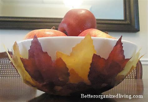 Make a Decorative Fall Leaves Bowl » Dollar Store Crafts