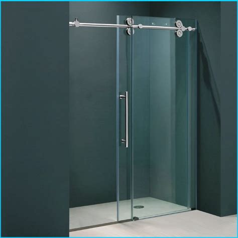 Sliding Glass Shower Door by Frameless Sliding Shower Doors Roselawnlutheran