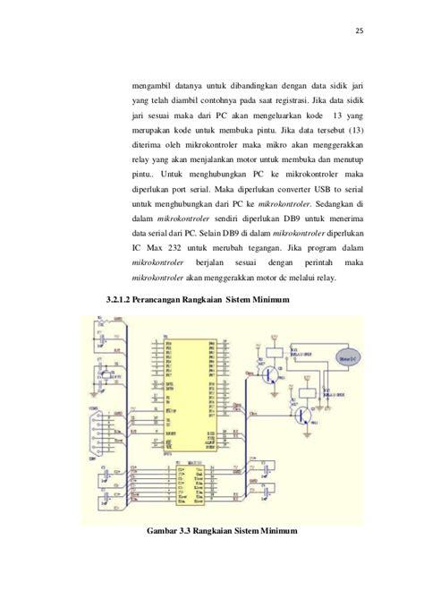 Kunci Motor Sidik Jari pembuatan mesin identifikasi sidik jari sebagai kunci