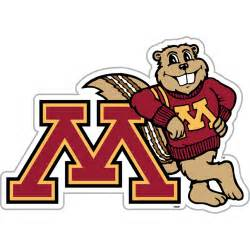 u of m colors minnesota gophers vinyl magnet set of 2