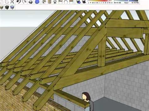 Hip Roof Barn by Roof Structure Summary Youtube