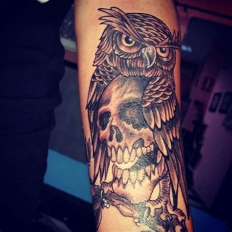 owl  skull tattoo ideas    ink