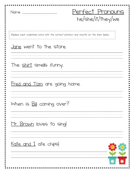 Pronoun Worksheet by Power Up With Pronouns New Skills Pack Idea