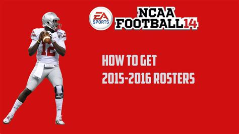 download updated 2015 2016 ncaa football rosters ps3 ncaa football 14 how to get 2015 2016 rosters ps3 xbox