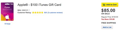 Buy American Itunes Gift Card - best buy offering 100 itunes gift cards for 85