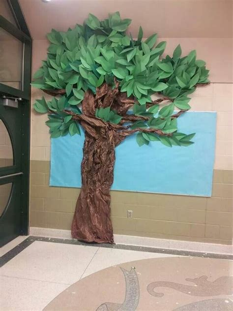 Crafts Made Out Of Construction Paper - tree i made out of construction paper and brown bulletin