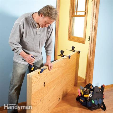 how to install new front door how to hang a new door the family handyman