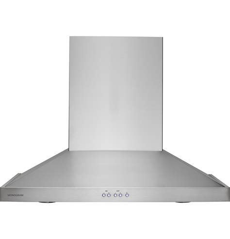 hood vent monogram 30 quot wall mounted vent hood zv830smss ge