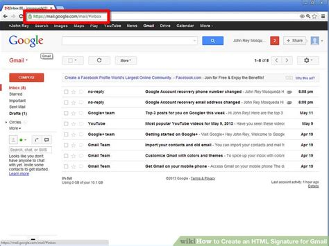 design html email for gmail how to create an html signature for gmail 10 steps