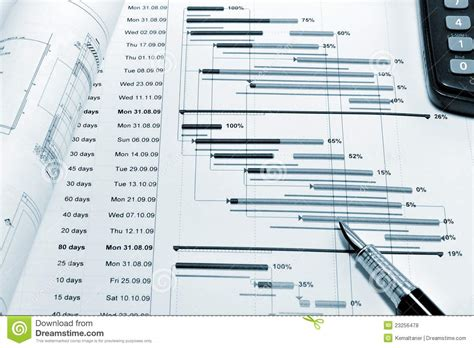 blueprint planner project planning blueprint stock photo image 23256478