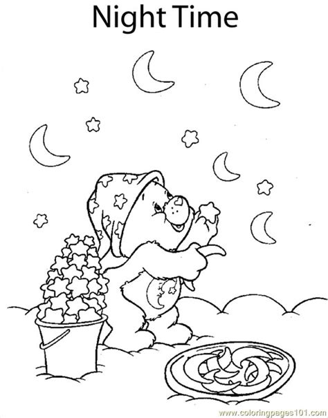 moon bear coloring pages coloring pages bear moon and st cartoons gt care bears
