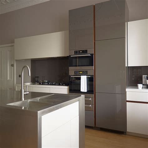 White And Gray Modern Kitchens Quicua Com Grey Modern Kitchen Cabinets