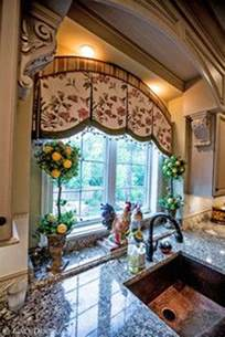 french country windows nice window treatment in this kitchen interiors 176 176 4