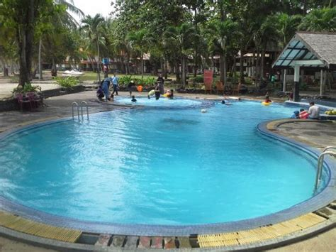 Lu Kolam Renang pintu masuk foto anyer cottage hotel resort anyer