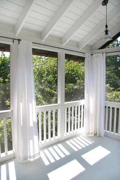 patio screen curtains 25 best ideas about screened front porches on pinterest