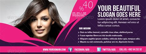 banner design beauty parlour hair beauty salon banner timeline template by graphicms
