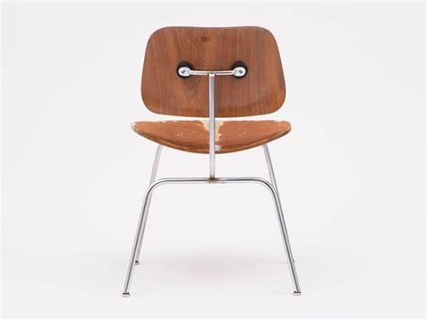 Eames Dining Chairs For Sale Eames Slunk Skin Upholstered Dcm Dining Chair For Sale At 1stdibs