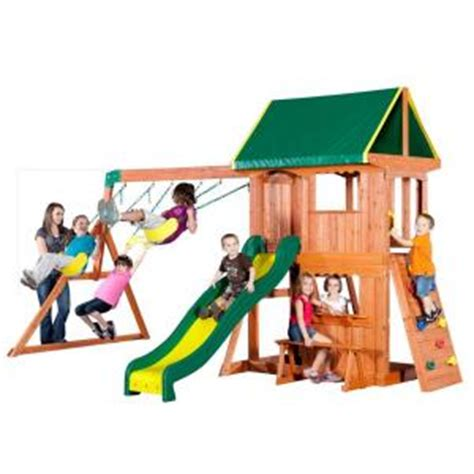 backyard discovery somerset all cedar swing playset