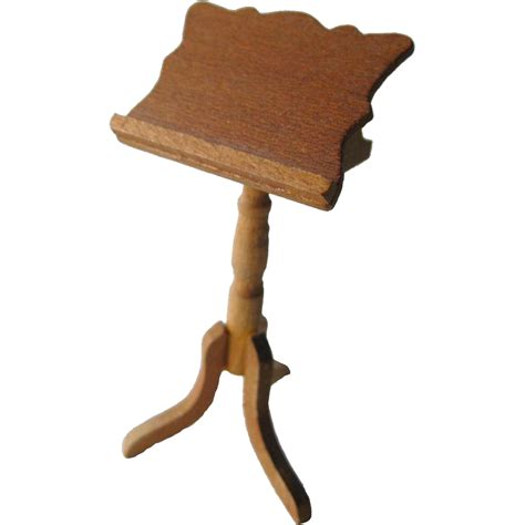 doll house music vintage miniature wooden music stand dollhouse doll furniture from openslate on