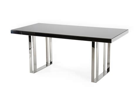 steel dining tables modrest courtland modern stainless steel dining table
