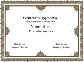 free appreciation certificate templates for word word certificate template 44 free sles