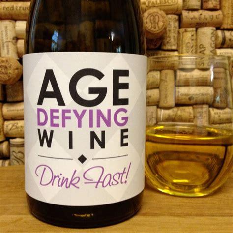 printable wine stickers birthday quot age defying wine quot printable birthday wine label