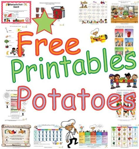 Types of Potatoes Activities for Kids, Free Printable