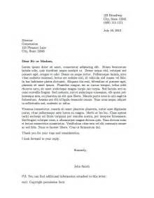 Business Letter Format Guide Professional Letter Template Free Business Template