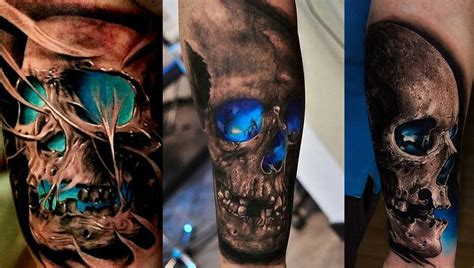 3d tattoo ideas for men 3d skull for style designs