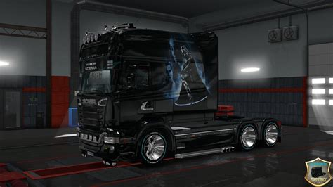 scania rs longline scania  longline star wars truck skin euro truck simulator  mods