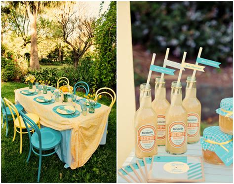 yellow and turquoise chic vintage summer wedding yellow and turquoise