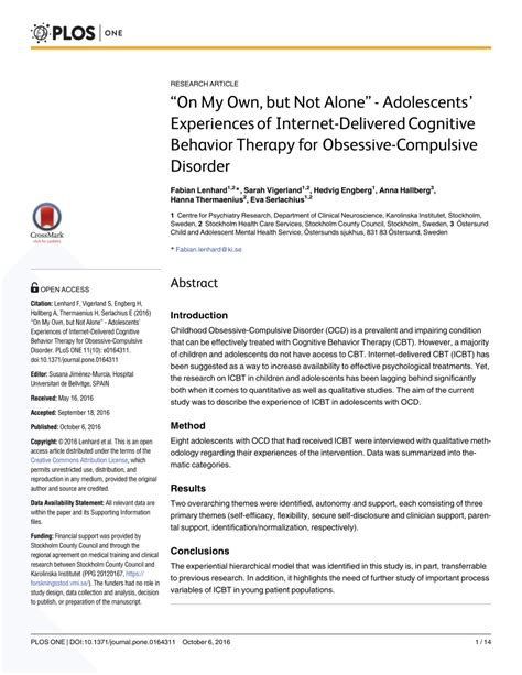 Pdf On My Own But Not Alone Adolescents