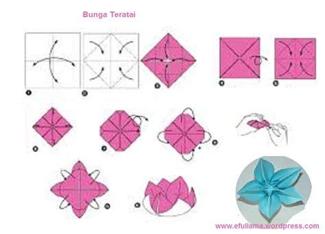 membuat bunga lily dari kertas lipat origami seni melipat kertas origami efull ma