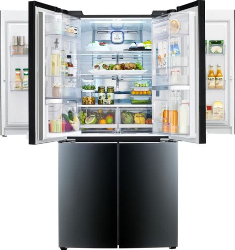 Kulkas 4 Pintu Electrolux lpcs34886c lg 34 cu ft door refrigerator luminous black contoured glass finish